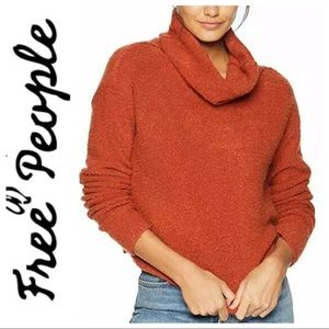 NWT FREE PEOPLE Stormy Cowlneck Pullover SWEATER